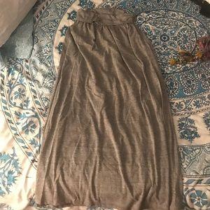 Tresics Womens Gray Maxi Skirt